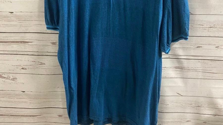 Mens Pierre Cardin Turquoise Blue Short Sleeve T-Shirt Size Xxxl - Excellent