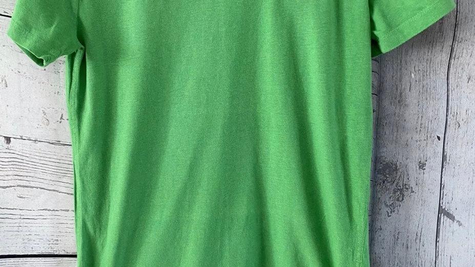 Mens Superdry Green V Neck Short Sleeve T-Shirt Size Medium - Immaculate