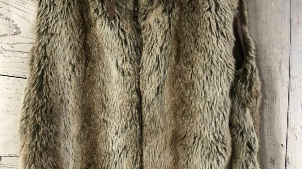 Womens / Ladies ZAHARA brown Faux Fue Bodywarmer Size XL Approx 14
