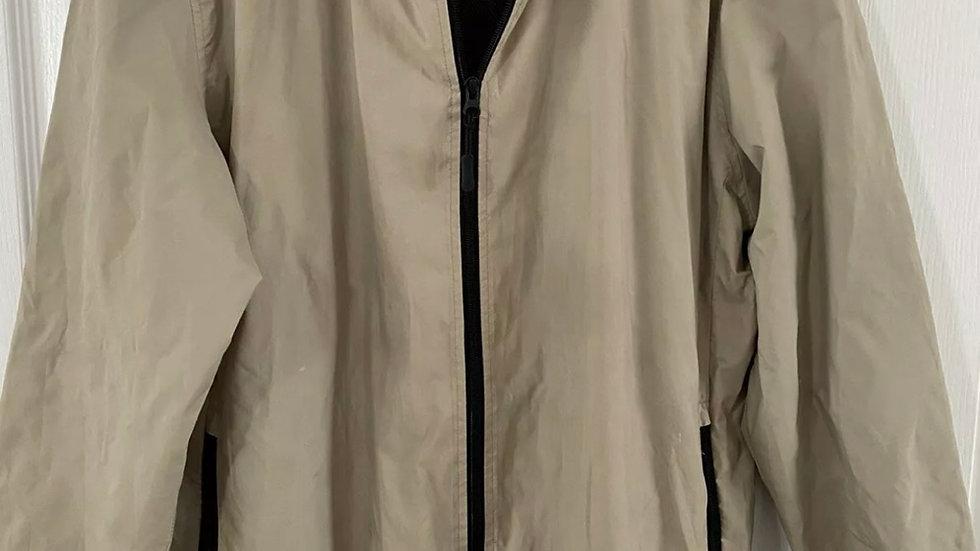 Mens TU Beige Light Weight Full Zip Rain Jacket Size Large Immaculate