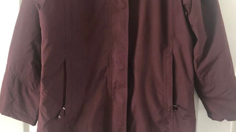 Women's / Ladies Regatta Burgundy Coat Fleece Lined Size 12 Missing Hood