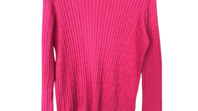 Girls Joules Pink Knitted Jumper Age 11-12 Years Good Condition