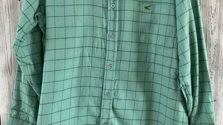 Mens Pegasus Green Check Long Sleeve Shirt Size Medium New With Tags