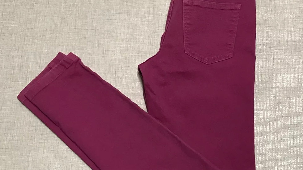 Womens / Ladies Yes Yes Pink Purple Denim Skinny Jeans Size 8 - Immaculate