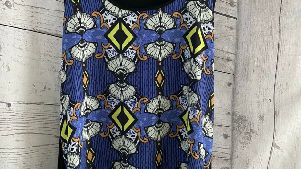 Womens / Ladies River Island Blue Mix Vest Top Size 14 Immaculate