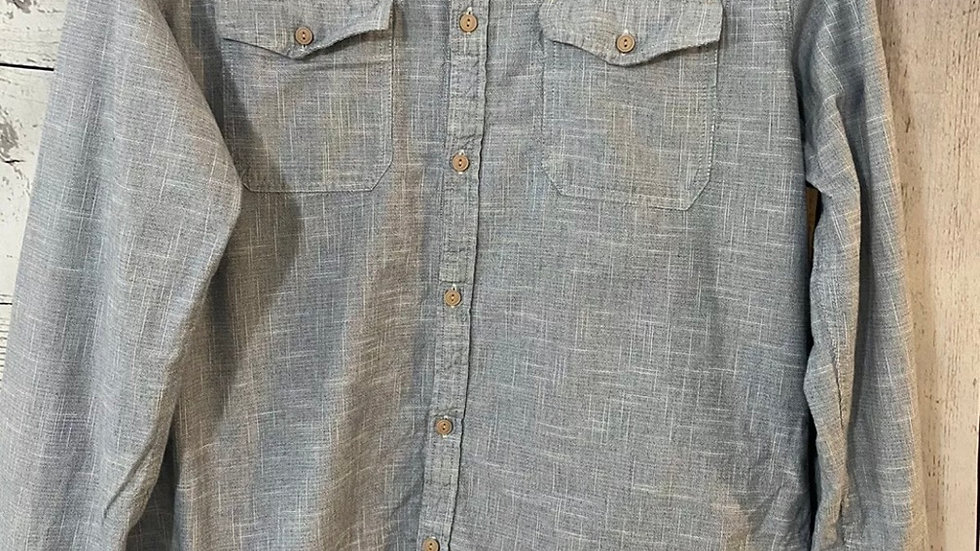Mens River Island Blue Long Sleeve Shirt Size XL Immaculate