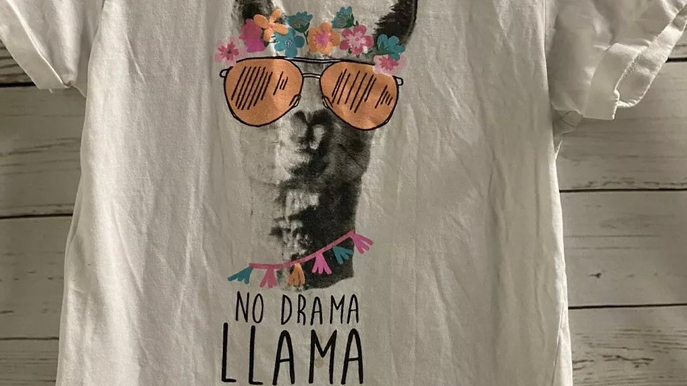Girls Primark White Larma T-Shirt Age 9-10 Years Immaculate