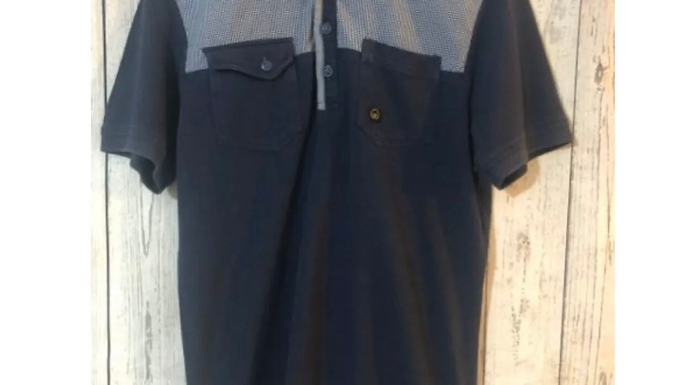 Men's Duck And Cover Navy Polo T-shirt Size Small - Immaculate Condition