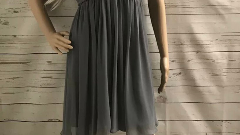 Women's / Ladies New Look Grey Gorgeous Dress Size 12 Immaculate