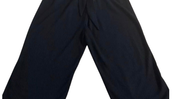 Girls TU Black Flare Cropped Trousers Age 8 Years Excellent Condition