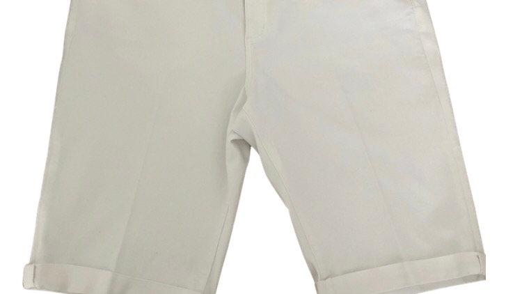 Womens / Ladies TU white Bermuda Denim Shorts Size 18 Immaculate Condition