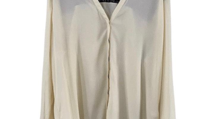 Womens / Ladies Kaleidoscope Beige & Black Long Sleeve Blouse Shirt Size 20