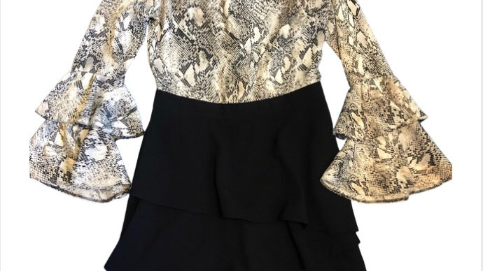Girls River Island Snake Print Playsuit Age 11 Years Immaculate Condition
