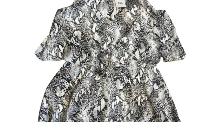 Womens / Ladies River Island Snake Print Playsuit Size 8 New With Tags