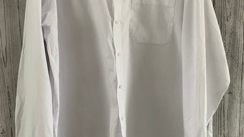 """Mens Nicole Miller White Long Sleeve Shirt Size 17"""" Neck 43"""" Chest Immaculate"""