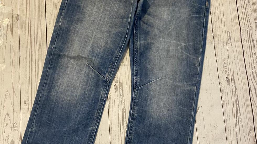 "Mens Crosshatch Black Label Blue Denim Jeans Size 32"" Waist Regular Leg"