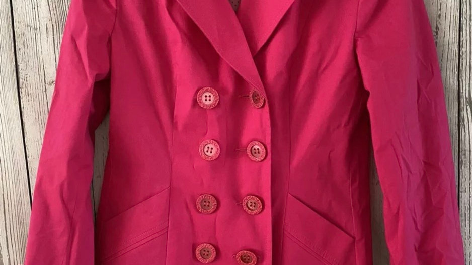 Womens / Ladies Per Una Marks & Spencer Cotton Pink Coat Size 10 Immaculate