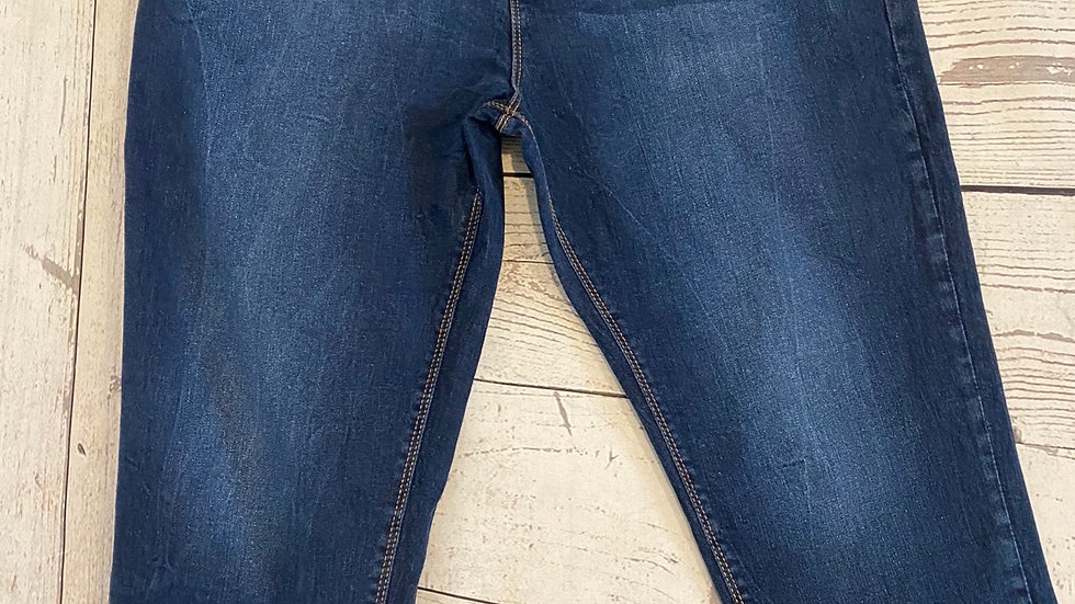 Womens / Ladies Anthology Blue Denim Cropped Jeans Size 20 Excellent Condition