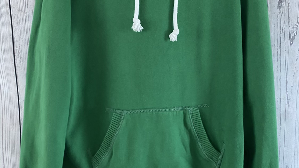 Womens / Ladies Jack Wills Green Pull Over Hoodie Size 10 Good Condition