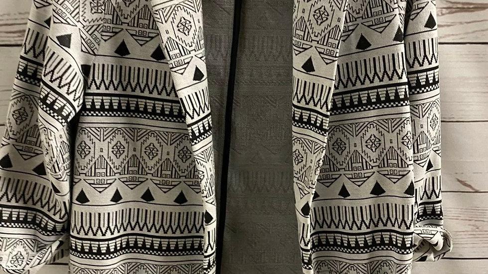 Girls Young Dimensions Black White Printed Kimono Blazer Cardigan Age 10-11 Year