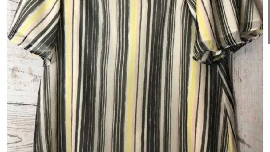 Women's / Ladies River Island Stripe Off Shoulder Lined Blouse Top Size 6