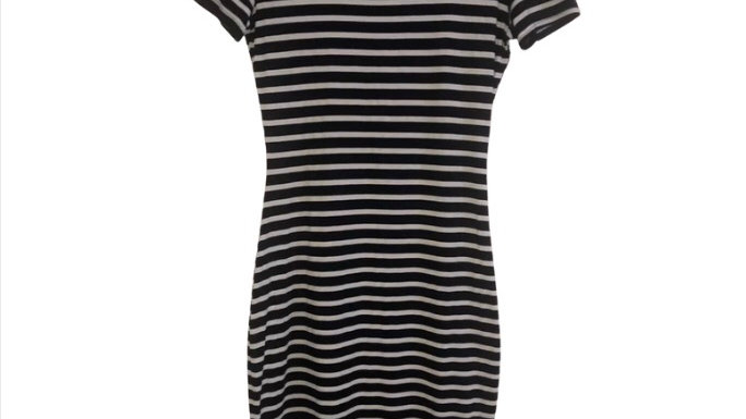 Womens / Ladies Lipsy Navy / White T-shirt Dress Size 10 - Immaculate Condition