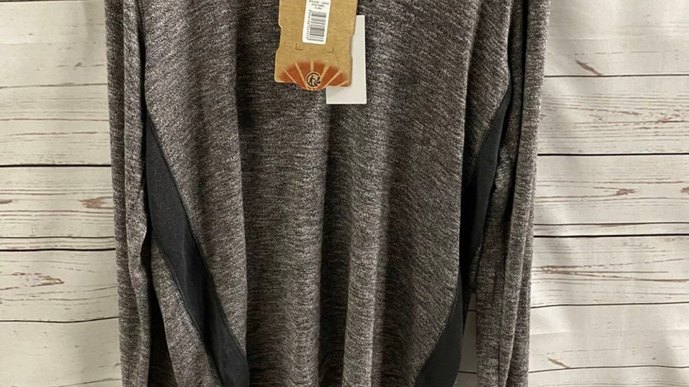 Mens Tokyo Laundry Grey Long Sleeve Soft Lounge Top Size large NEW With Tags