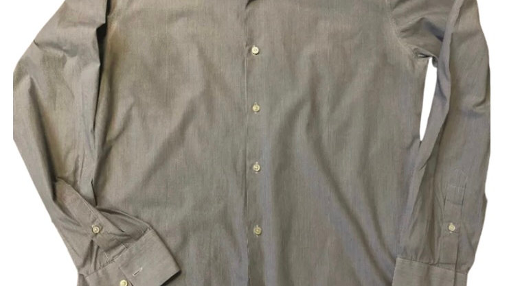 """Mens Ted Baker Blue White Stripe Endurance Shirt Size 16"""" Collar - Immaculate"""