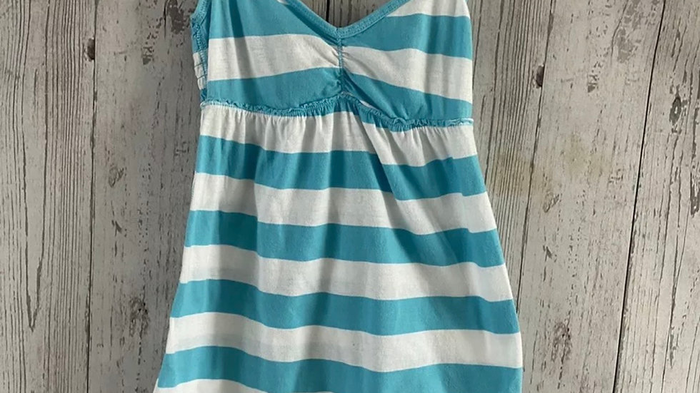 Womens / Ladies Abercrombie & Fitch Turquoise White T-Shirt Top Size XS