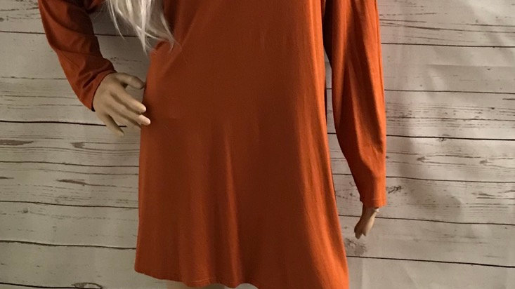 Womens / Ladies Dorothy Perkins Orange Cut Out Shoulder Dress Size 16 Immaculate