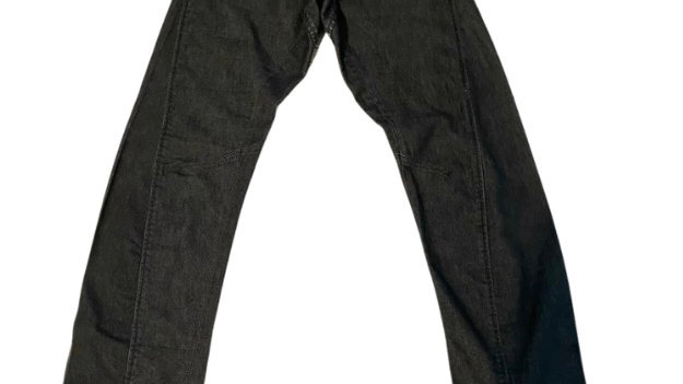 """Mens Jack & Jones Black Blue Twisted Jeans Size 28"""" Waist 32"""" Leg - Excellent"""