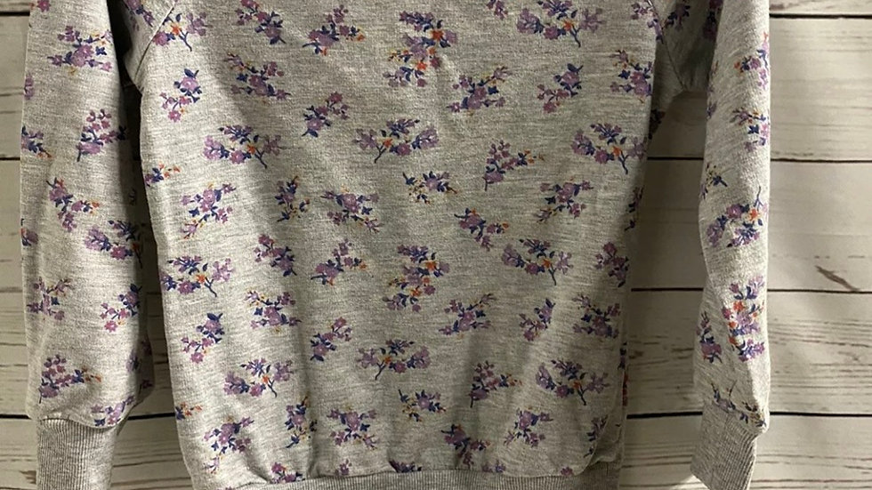 Girls Young Dimensions Grey Floral Jumper Age 8-9 Years Excellent Condition