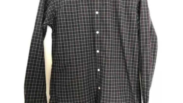 """Mens Ralph Lauren Green Blue Check Long Sleeve Shirt 15"""" Collar 38"""" Chest"""