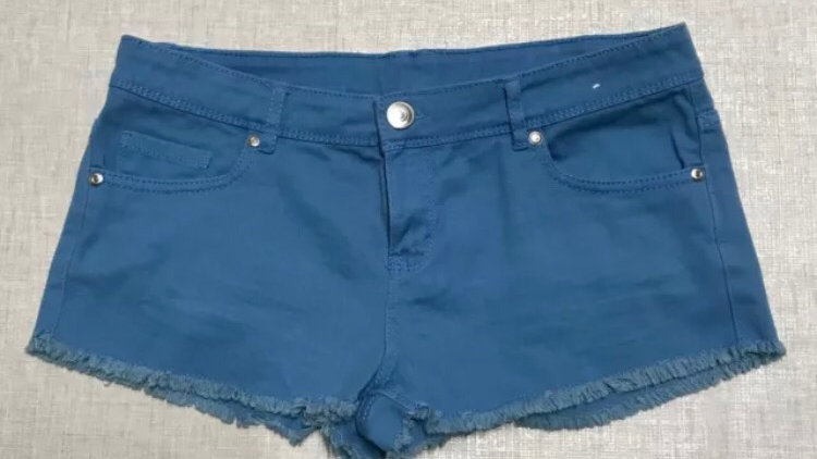 Womens / Ladies Blue Denim Shorts Size 10 - Immaculate Condition