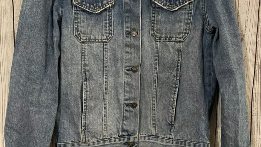 Womens / Ladies Topshop Moto Blue Denim Jacket Size 10 - Immaculate