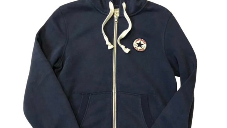 Mens Converse Blue Full Zip Jacket Size Small - Excellent Condition