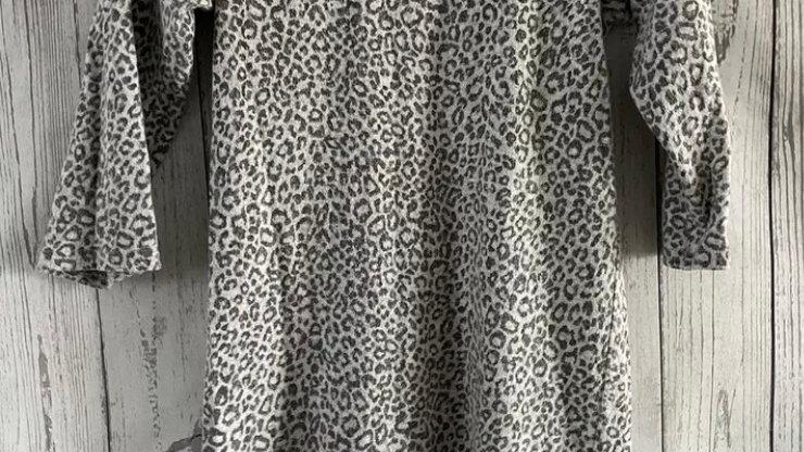 Womens / Ladies Evie Grey Leopard Print Sweater Size 8 Excellent