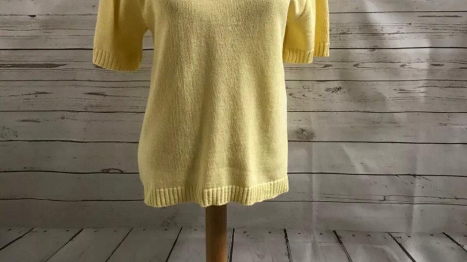 Women's / ladies yellow glimpse knit jumper size S/M new
