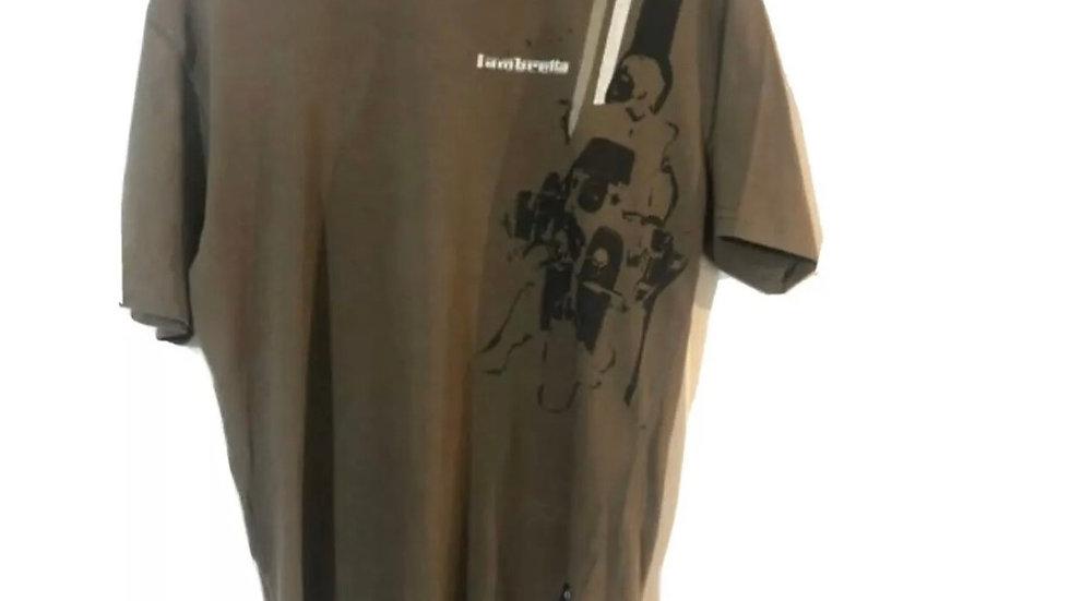 Men's Lambretta Brown Short Sleeve T-shirt Size Medium - Excellent Condition