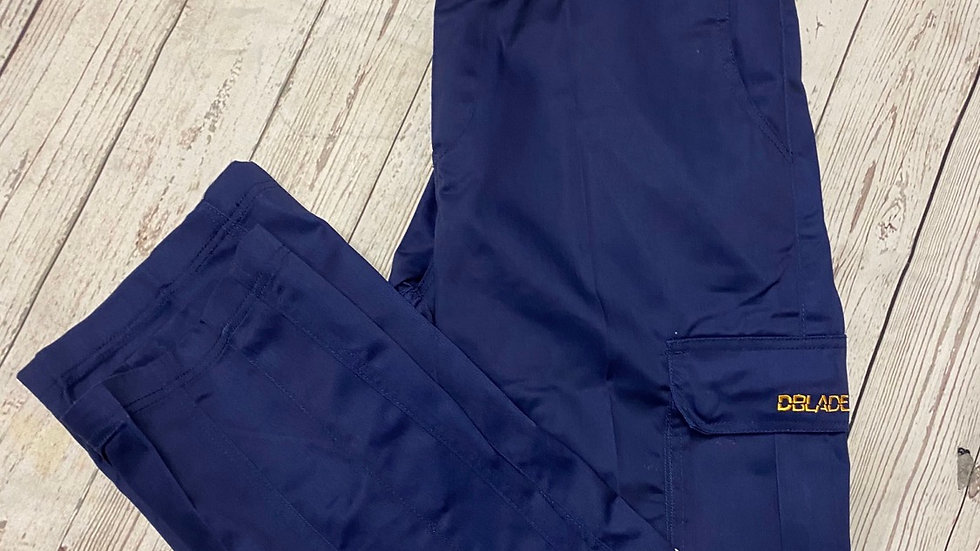 Mens D Blade Navy Work Wear Trousers Size Large New With Tags
