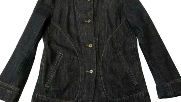 Womens / Ladies DKNY blue Denim Blazer Jacket Size 06 Uk 10 Immaculate