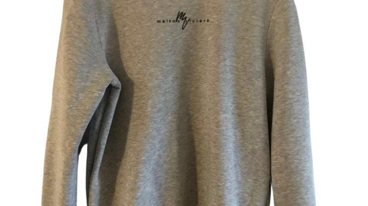 Mens River Island Grey Jumper Size Medium Good Condition