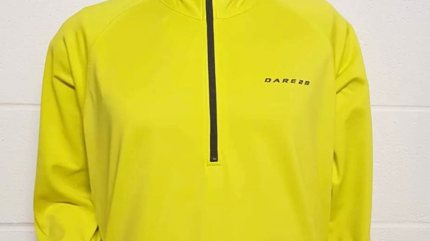 Dare 2b Interfuse 1/4 Zip Core Stretch Top Extreme Yellow New Tags Size XXL