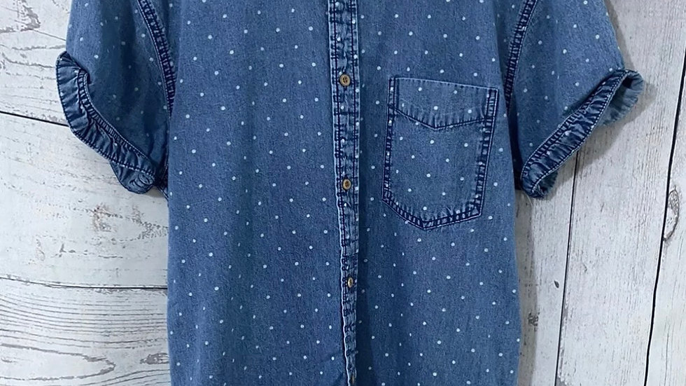 Mens Jack Jones Blue Spotted Shirt Size Large Immaculate