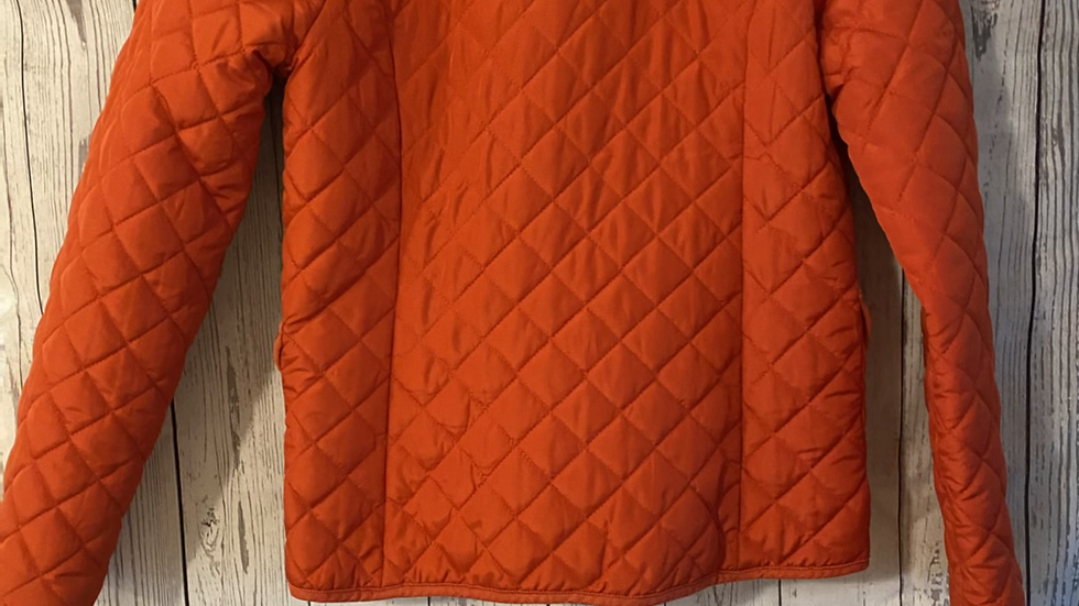 Wonens / Ladies George Red Quilted Coat Size 12 Immaculate