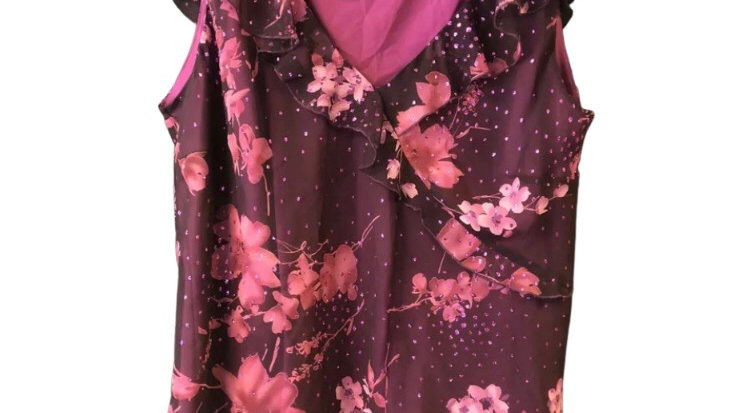 Womens / Ladies BHS purple Floral Blouse Top Size 20 New With Tags