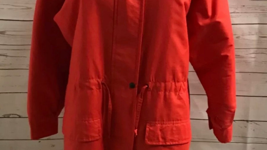 Women's / ladies Red padded coat size 12 / 14 good condition