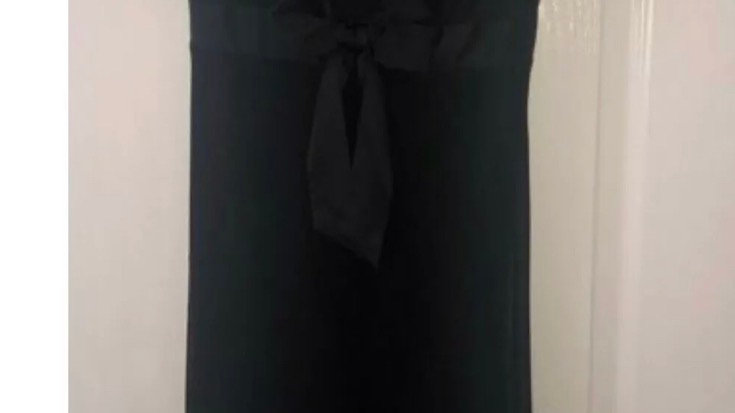 Women's / Ladies Next Black V Neck Maxi Party Dress Size 8 Immaculate Condition