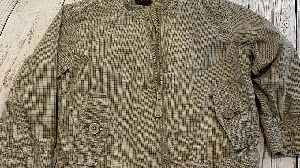 Boys Next Beige Check Jacket Coat Age 2-3 Years Immaculate Condition