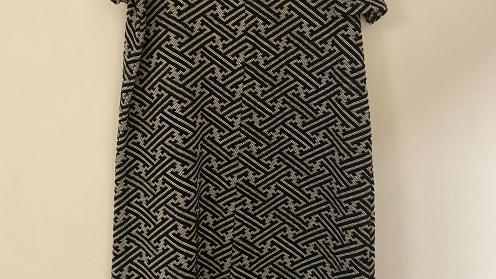Women's Ladies Next Black & Grey Dress With Cut Out Shoulders Size 8 Immaculate
